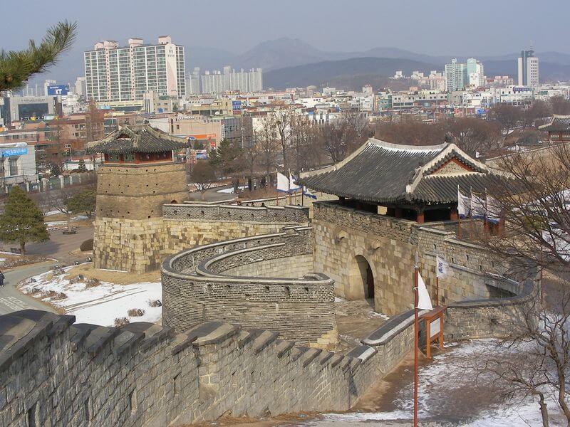 Suwon, la capitale de la province de Gyeonggi, célèbre pour la forteresse de Hwaseong